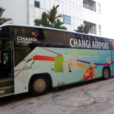 Large Format Vehicle Changi Airport Bus – PA 9267T