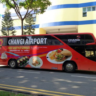 Large Format Vehicle Changi Airport Bus – PC 9995P
