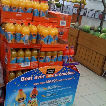 POS Display : Minute Maid