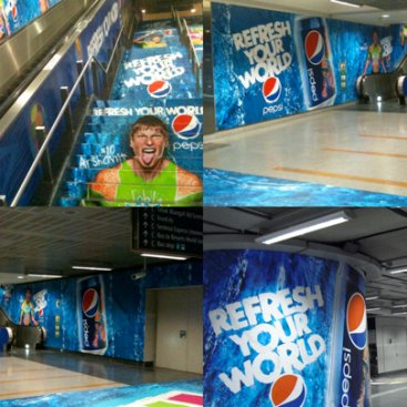 Large Format Outdoor Media : Pepsi Collage