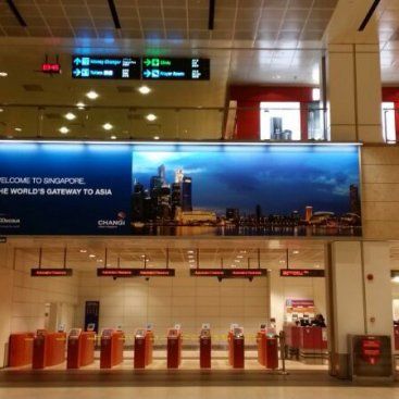 Large Format Outdoor Media : Changi Airport